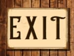Vintage style Exit Sign