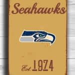 Vintage style Seattle Seahawks Sign