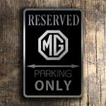MG Parking Only Sign 4