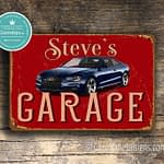 Classic Metal Signs Audi Garage Sign 1