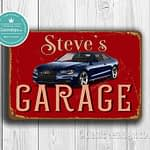 Classic Metal Signs Audi Garage Sign 2