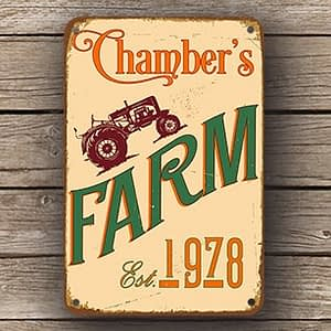 personalized farm sign