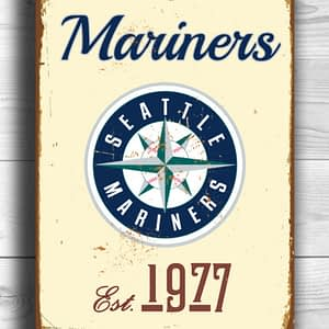 SEATTLE MARINERS Sign Vintage style Seattle Mariners Est. 1977 Composite Aluminum Seattle Mariners in team colors SPORTS fan Sign Mariners