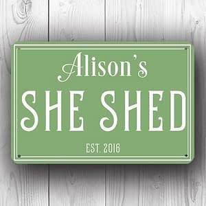 Green She Shed Sign