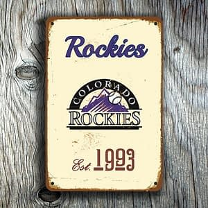 COLORADO ROCKIES SIGN