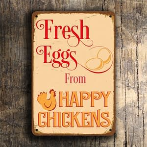 Vintage style Fresh eggs Sign