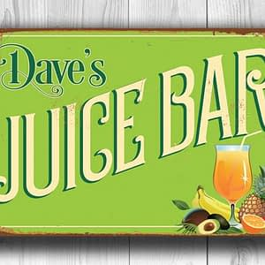 Personalized Juice Bar Sign