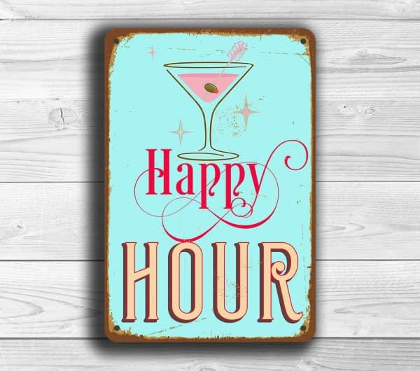 Vintage style Happy Hour Sign