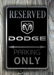 Dodge Only Sign