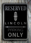 Lincoln Parking sign