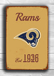 Vintage style St Louis Rams Sign