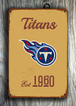 Vintage style Tennessee Titans Sign