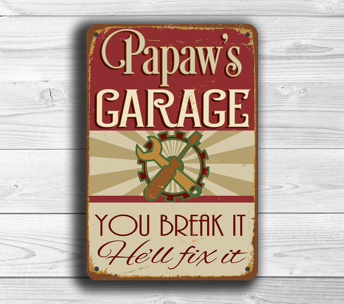 Papaw's Garage Sign
