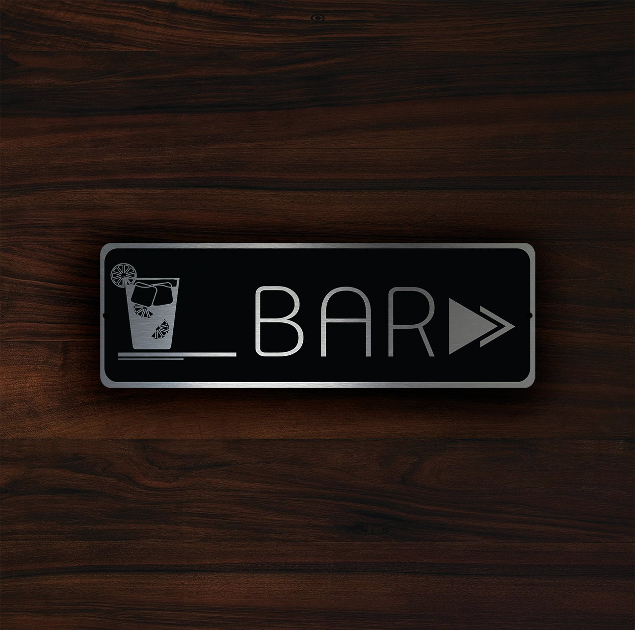 HOTEL BAR POINTER Sign