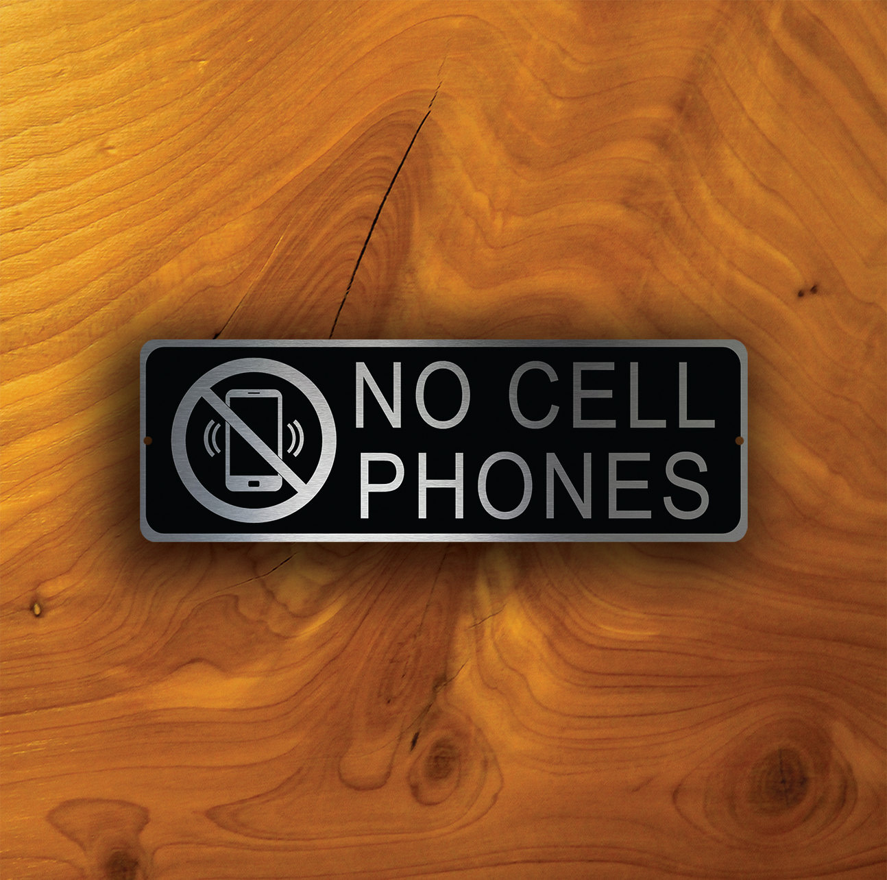 NO CELL PHONES Sign