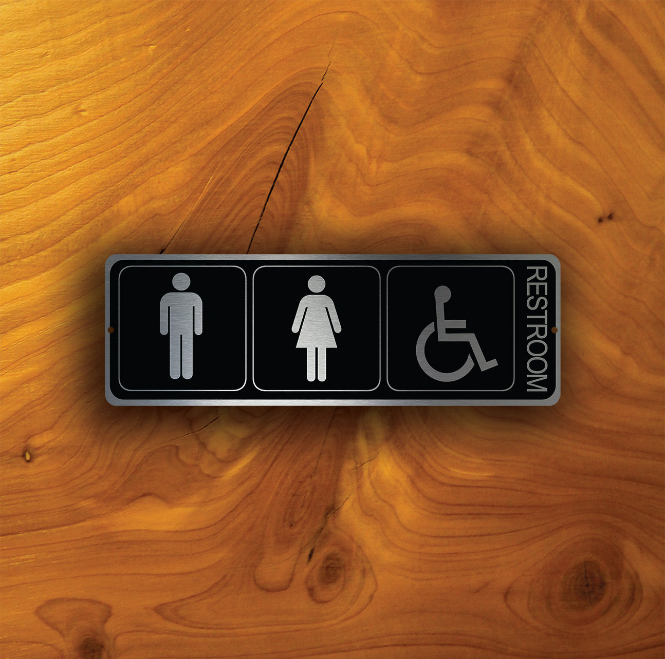 UNISEX ACCESSIBLE RESTROOM Sign