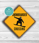 Snowboarder Crossing sign
