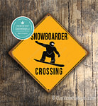 Snowboarder Crossing Signs