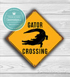 Gator Crossing Sign
