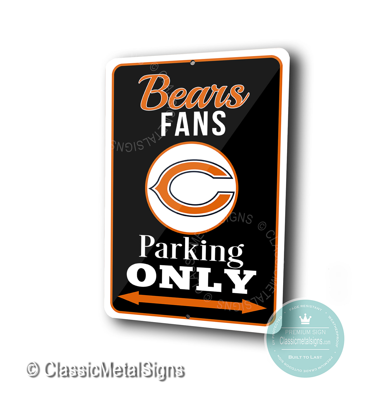 Chicago Bears Parking Only Signs