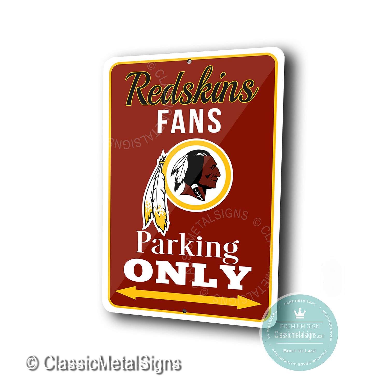 Washington Redskins Parking Only Signs