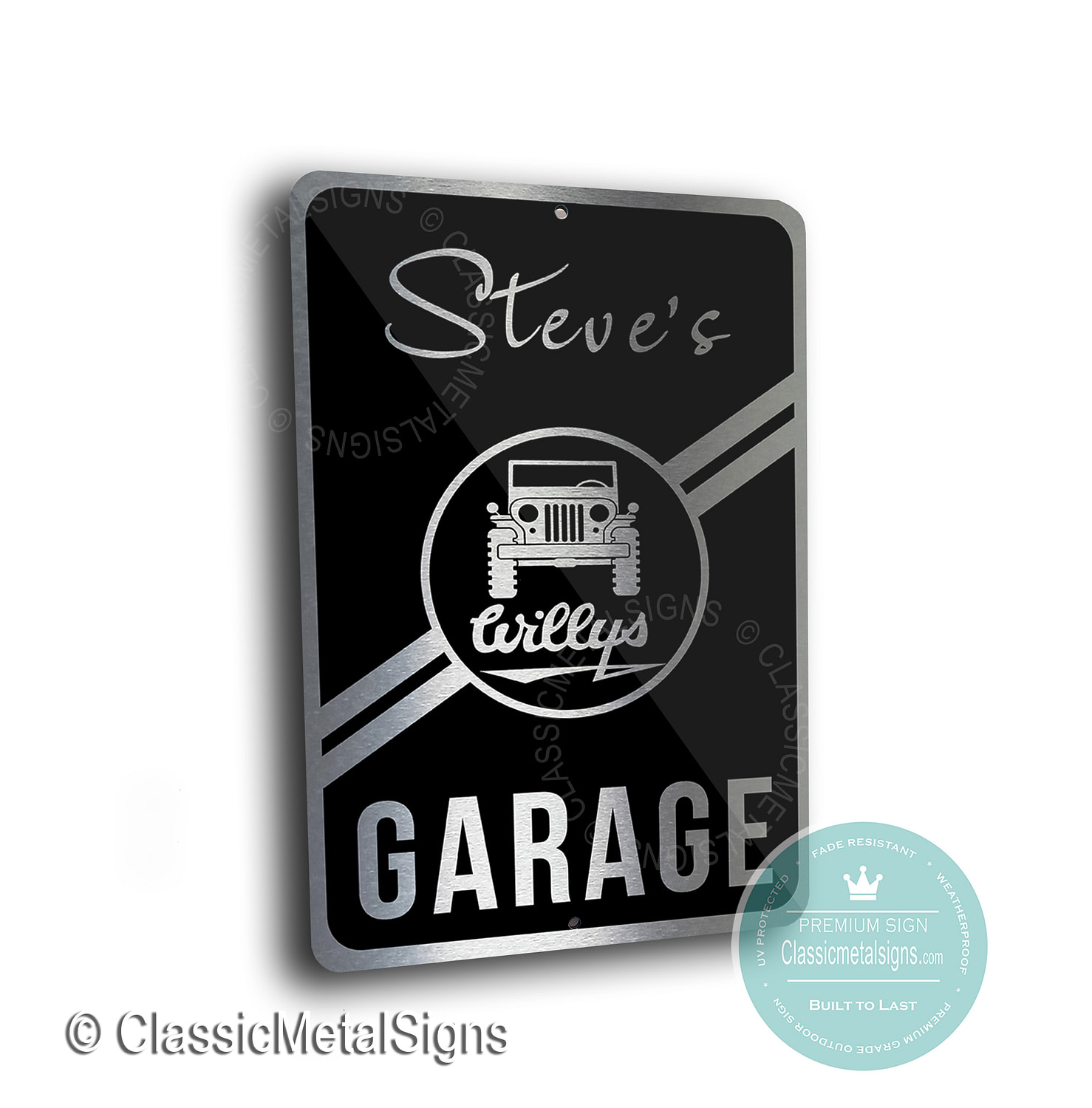 Willys Jeep Garage Signs