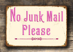 Pink no junk mail sign