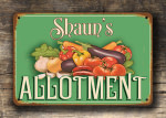 Personalized Allotment Sign