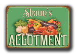 Personalized Allotment Signs