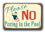 No Peeing in the Pool