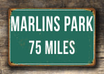 Personalized Marlins Park Distance Sign
