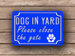Blue Dog In Yard Sign