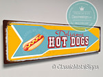 Hot Dogs Arrow Signs