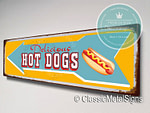 Hot Dogs Directional Signs
