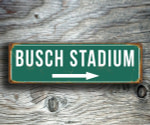 BUSCH STADIUM SIGN