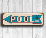 Pool Direction Sign