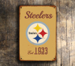 Pittsburgh Steelers Logo Sign