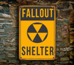 Yellow Fallout Shelter Sign