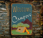 Welcome Campers Sign