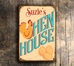 Personalized Hen House Signs