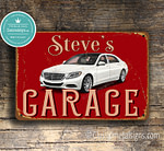 Personalized Mercedes Parking Sign