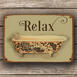 vintage style bathroom sign