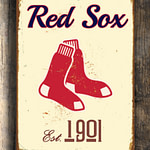 BOSTON-RED-SOX-Sign-Vintage-style-Boston-Red-Sox-Est.-1901-Composite-Aluminum-Boston-Redsox-Sign-in-team-colors-Baseball-Sign-Boston-Redsox-1