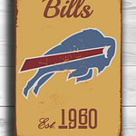 BUFFALO BILLS Sign Vintage style Buffalo Bills Sign Est. 1960 Composite Aluminum Vintage Buffalo Bills Sign FOOTBALL Fan Sign Sports Fan