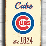 CHICAGO-CUBS-Sign-Vintage-style-Chicago-Cubs-Est.-1874-Composite-Aluminum-Chicago-Cubs-Sign-in-team-colors-Sports-Fan-Sign-BASEBALL-Cubs-1