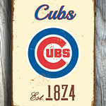 CHICAGO-CUBS-Sign-Vintage-style-Chicago-Cubs-Est.-1874-Composite-Aluminum-Chicago-Cubs-Sign-in-team-colors-Sports-Fan-Sign-BASEBALL-Cubs-3