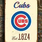 CHICAGO-CUBS-Sign-Vintage-style-Chicago-Cubs-Est.-1874-Composite-Aluminum-Chicago-Cubs-Sign-in-team-colors-Sports-Fan-Sign-BASEBALL-Cubs-4