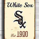 Chicago-WHITE-SOX-Sign-Vintage-style-Chicago-White-Sox-Est.-1900-Composite-Aluminum-Chicago-White-Sox-in-team-colors-BASEBALL-Fan-Sign-1