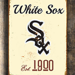 Chicago-WHITE-SOX-Sign-Vintage-style-Chicago-White-Sox-Est.-1900-Composite-Aluminum-Chicago-White-Sox-in-team-colors-BASEBALL-Fan-Sign-3