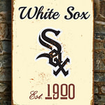 Chicago-WHITE-SOX-Sign-Vintage-style-Chicago-White-Sox-Est.-1900-Composite-Aluminum-Chicago-White-Sox-in-team-colors-BASEBALL-Fan-Sign-4